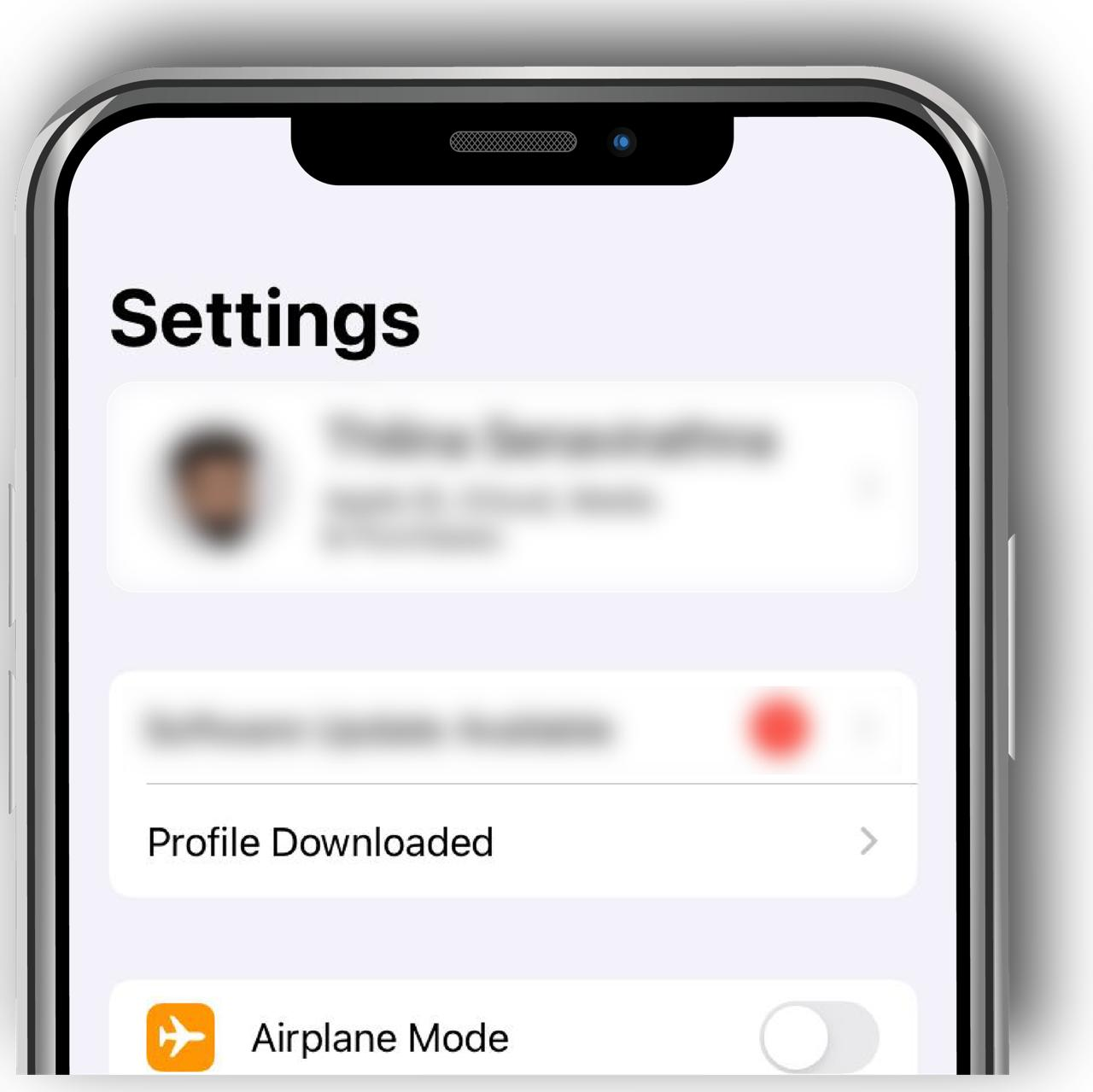 go to settings and tap profile downloaded