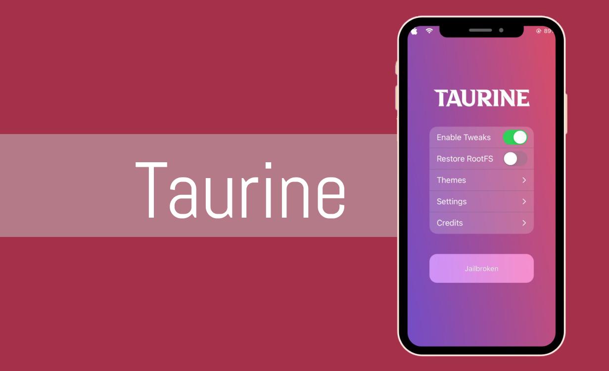 Taurine jailbreak for A12