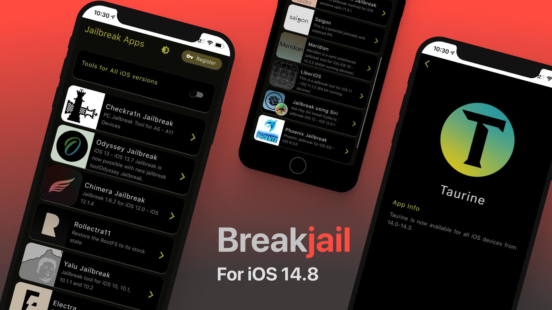 Breakjail - iOS 14.8 Jailbreak Tool Finder